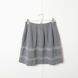 {Madewell} gray wool turnout skirt A1